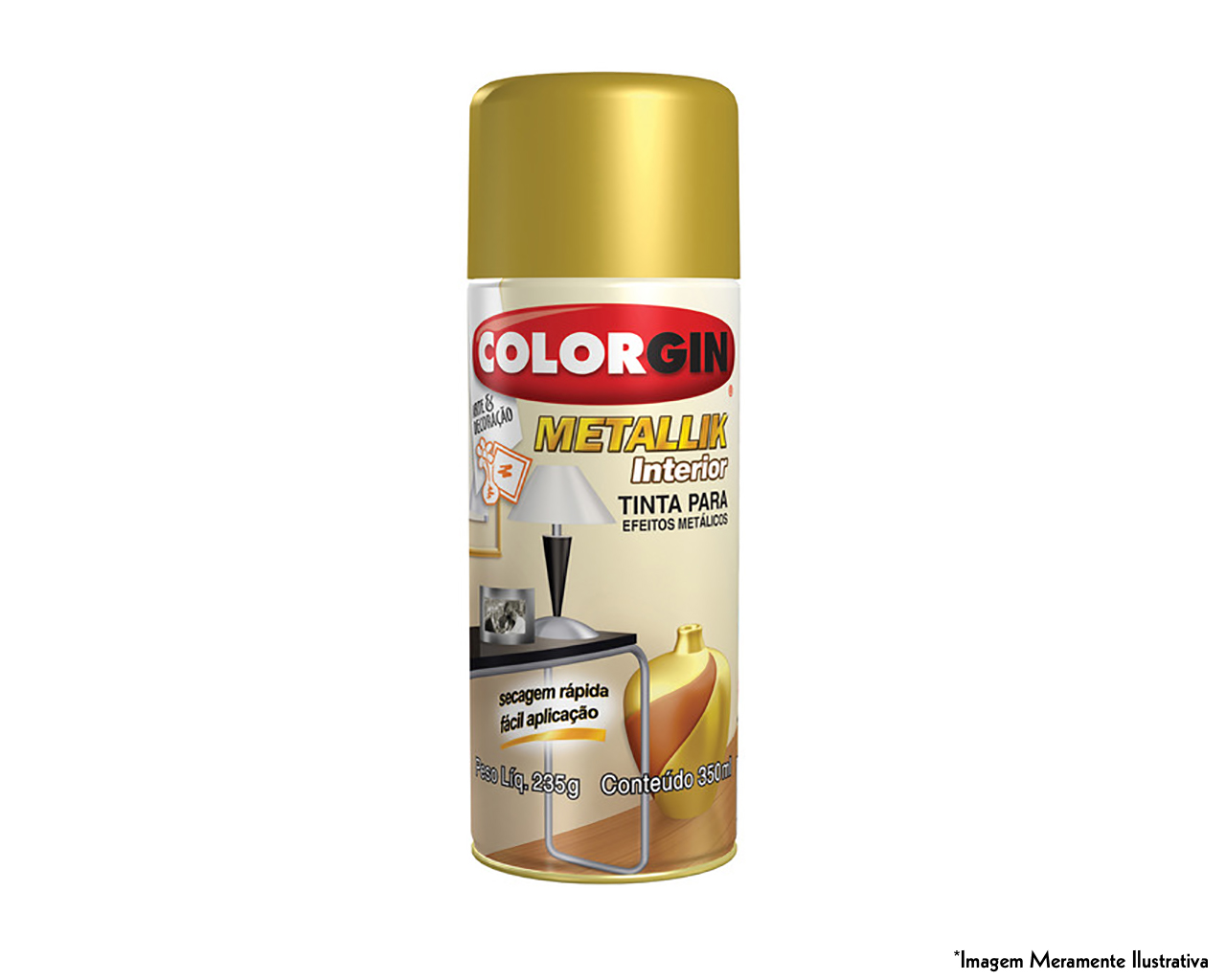 TINTA SPRAY METALLIK INTERIOR COBRE 350ML