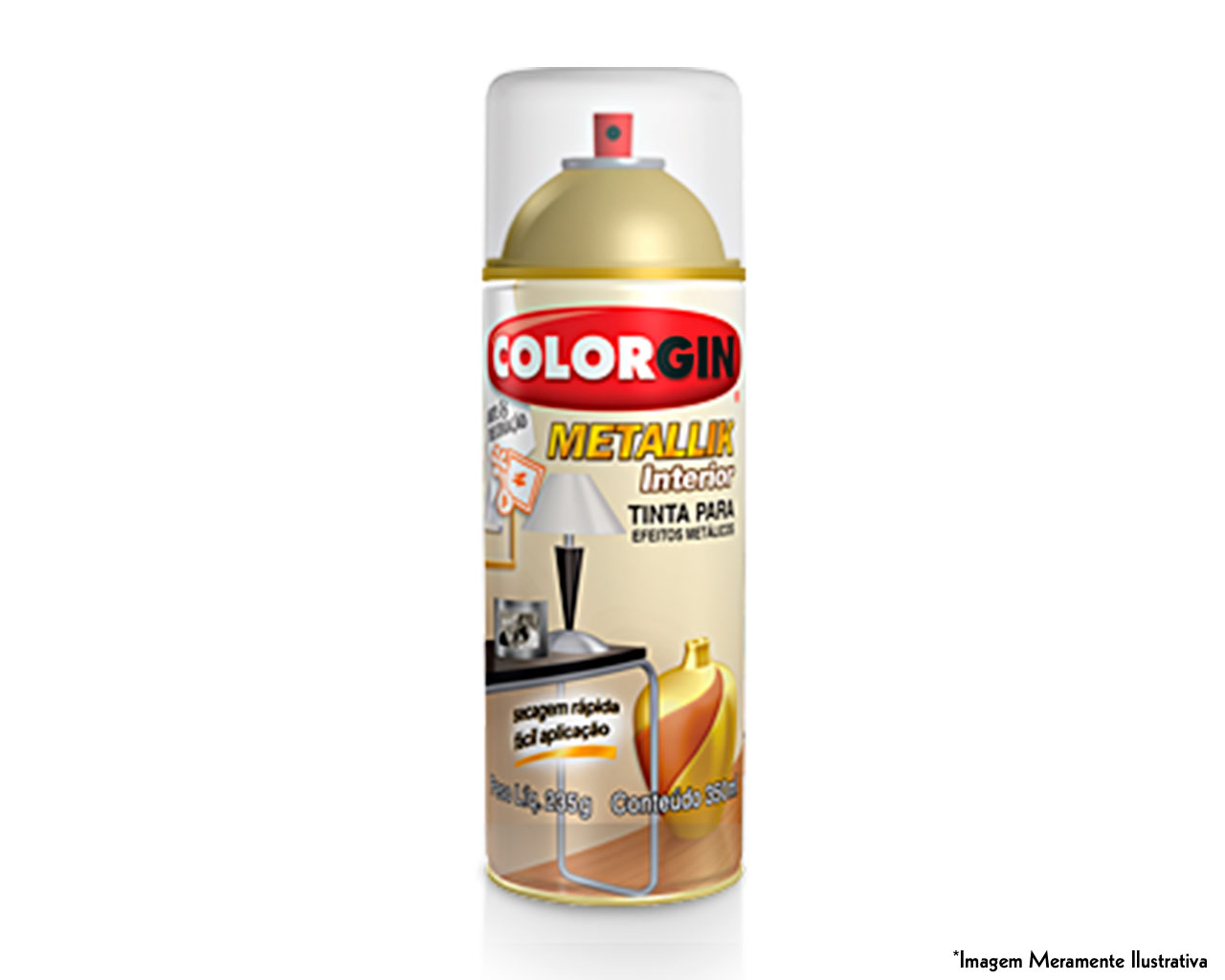 TINTA SPRAY METALLIK INTERIOR BRONZE 350ML