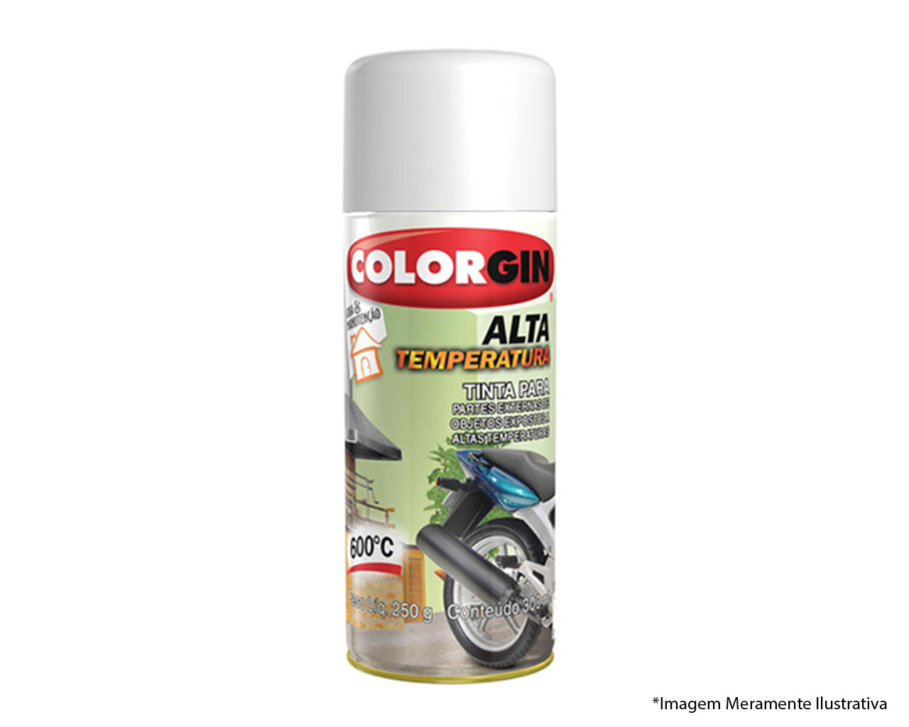 TINTA SPRAY ALTA TEMPERATURA BRANCO 600