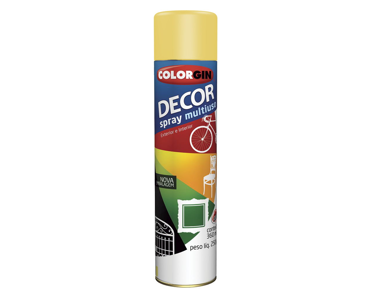 TINTA SPRAY DECOR AMARELO
