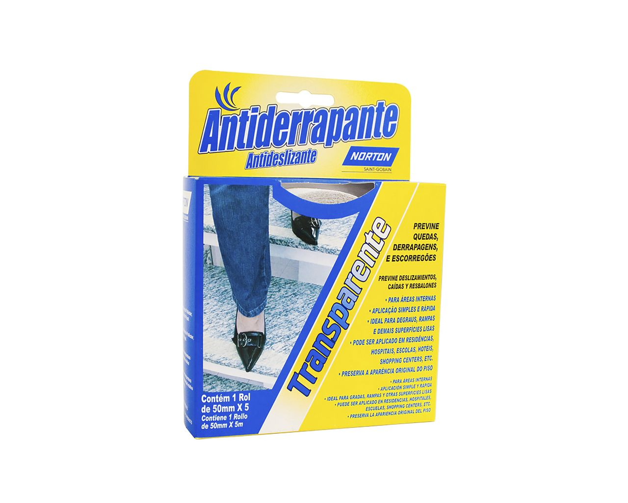 FITA ANTIDERRAPANTE 50MMx5M TRANSPARENTE BLISTER